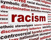 foto of racial discrimination  - Racism humanity warning message concept - JPG