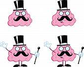 Brain Cartoon Mascot Collection 15