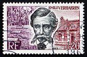 Postage Stamp France 1963 Emile Verhaeren, Belgian Poet