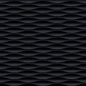 Black seamless texture. Vertical wavy background. Interior wall decoration. Fashion interior decor w