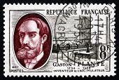 Postage Stamp France 1957 Gaston Plante, Physicist