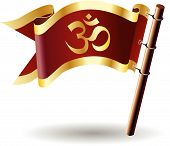 Royal-flag-faith-hindu-om-mantra-prayer-yoga