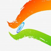 wave style vector flag of india