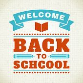 Back to school message vector illustration