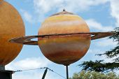The dummy of the solar system in Amboise. .Valley of the river Loire. France