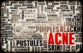 foto of pimples  - Acne Problem and Treatment Concept as Art - JPG