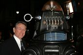 LOS ANGELES - NOVEMBER 8: Robby The Robot and Earl Holliman at the 50th Anniversary Gala Screening of