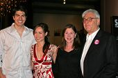 LOS ANGELES - NOVEMBER 2: Brandon Routh and Courtney Ford, Lauren Shuler Donner and Richard Donner a