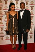 LOS ANGELES - NOVEMBER 2: Sidney Poitier and his daughter at the 2005 BAFTA/LA Cunard Britannia Awar