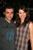 LOS ANGELES - NOVEMBER 09: David Krumholtz and Vanessa Britting at the Los Angeles Premiere of