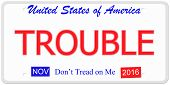 Trouble License Plate