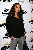 LOS ANGELES - OCTOBER 10: Joy Bryant at the birthday party for Nick Cannon and the opening of his fl