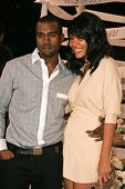 BEL AIR - OCTOBER 27: Kanye West and friend at the H And M Celebration of the Viktor And Rolf Collection on October 27, 2006 at Private Residence, Bel Air, CA.