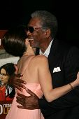 LOS ANGELES - NOVEMBER 27: Paz Vega and Morgan Freeman at the premiere of