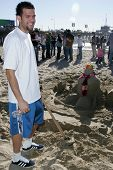 SANTA MONICA, CA - DECEMBER 02: Jordan Farmar at Kohl's Holiday Sandman Building Competition on Dece