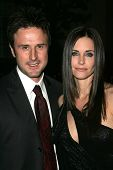 LOS ANGELES - DECEMBER 09: David Arquette and Courteney Cox at the premiere of the FX original drama series