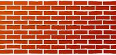 foto of grout  - red industrial brick wall background with streaks of grout - JPG