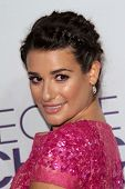 Lea Michele at the 2013 People's Choice Awards Arrivals, Nokia Theater, Los Angeles, CA 01-09-13