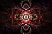 Pink and Red Patterns Abstract Fractal Design
