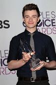 Chris Colfer at the 2013 People's Choice Awards Press Room, Nokia Theatre, Los Angeles, CA 01-09-13