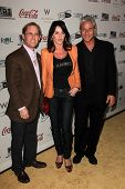 Bart Conner, Nadia Comaneci, Greg Louganis  at the Gold Meets Golden Event, Equinox West LA, Los Ang