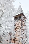 Old Church Tower And Winter Trees, Stary Smokovec - Slovakia
