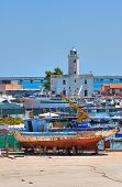 Panoramic view of Manfredonia. Puglia. Italy.