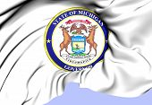 Governor Of Michigan Seal, Usa.