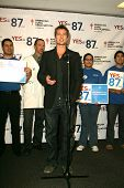 LOS ANGELES - NOVEMBER 11:  Brad Pitt at Proposition 87 Press Conference in a Private Location Novem