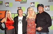 CULVER CITY, CA - DECEMBER 02: Linda Hogan and Nick Hogan with Brooke Hogan and Hulk Hogan at the VH