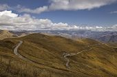 stock photo of armenia  - Dirt mountain road high in the mountains of Armenia - JPG