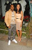 Kanye West and Alexis Rainey at the Stella McCartney Holiday Window Lighting to benefit the Kanye We
