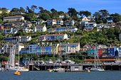 stock photo of dartmouth  - boats n the River Dart at kingswear - JPG