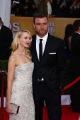 Naomi Watts, Liev Schreiber at the 19th Annual Screen Actors Guild Awards Arrivals, Shrine Auditoriu