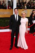 Noah Wyle and Sara Wells at the 19th Annual Screen Actors Guild Awards Arrivals, Shrine Auditorium,