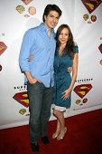 HOLLYWOOD - NOVEMBER 16: Brandon Routh and friend at the