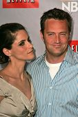 PASADENA - JULY 22: Amanda Peet and Matthew Perry at the NBC TCA Press Tour at Ritz Carlton Huntingt