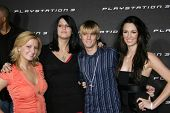 LOS ANGELES - OCTOBER 08: LOS ANGELES - OCTOBER 08: Aaron Carter and friends at the Playstation 3 Launch Party October 08, 2006 in 9900 Wilshire Blvd, Beverly Hills, CA.