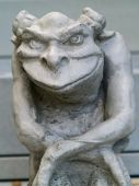 foto of gremlins  - Gargoyle statue taken with emphasis on face and eyes - JPG