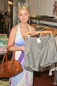 BEVERLY HILLS - JULY 10: Tara Reid at TAG RAG Boutique, shopping for her new film