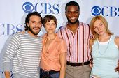 PASADENA - JULY 15: Michael Irby, Audrey Marie Anderson, Demore Barnes and Abby Brammell at CBS's TC
