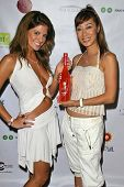 SANTA MONICA - JULY 23: Bridgetta Tomarchio and Flora Zeta at the Sexy Summer Soire Party hosted by