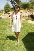 BEVERLY HILLS - AUGUST 06: Constance Zimmer at the Fulfillment Fund's Fifth Annual Summer Splash Aug