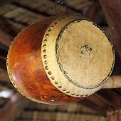 Wooden Leather Old Drum
