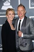 Trudie Styler, Sting at the 55th Annual GRAMMY Awards, Staples Center, Los Angeles, CA 02-10-13