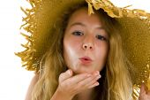 Teenager Blowing A Kiss