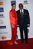L.A Reid, Erica Reid at the 2013 Clive Davis And Recording Academy Pre-Grammy Gala, Beverly Hilton H