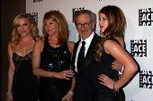 Jessica Capshaw, Kate Capshaw, Steven Spielberg, Sasha Spielberg at the ACE Eddie Awards 2013, Beverly Hilton, Beverly Hills, CA 02-16-13