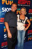 HOLLYWOOD - JULY 11: Joe Theismann and Kelly Carlson at ESPN The Magazine's