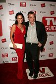 HOLLYWOOD - AUGUST 27: Tia Carrere and Tom Sizemore at the TV Guide Emmy After Party at Social August 27, 2006 in Hollywood, CA.
